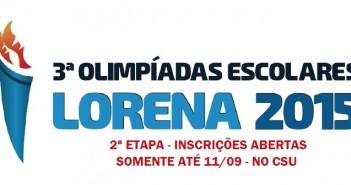 Olimpíadas Escolares inscrições