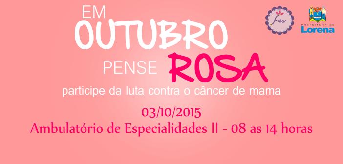 Programação do Outubro Rosa terá ações especiais no próximo sábado