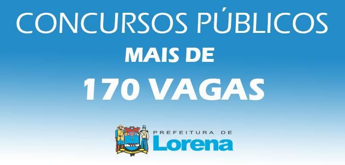 Lorena abre concurso para 174 vagas em diversas áreas