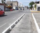 Obras de implantação de ciclofaixas estão em andamento em duas avenidas
