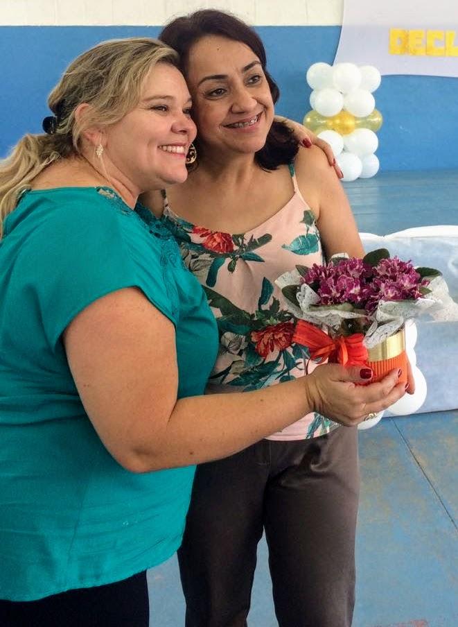 gestora Luiza e Professora Denise