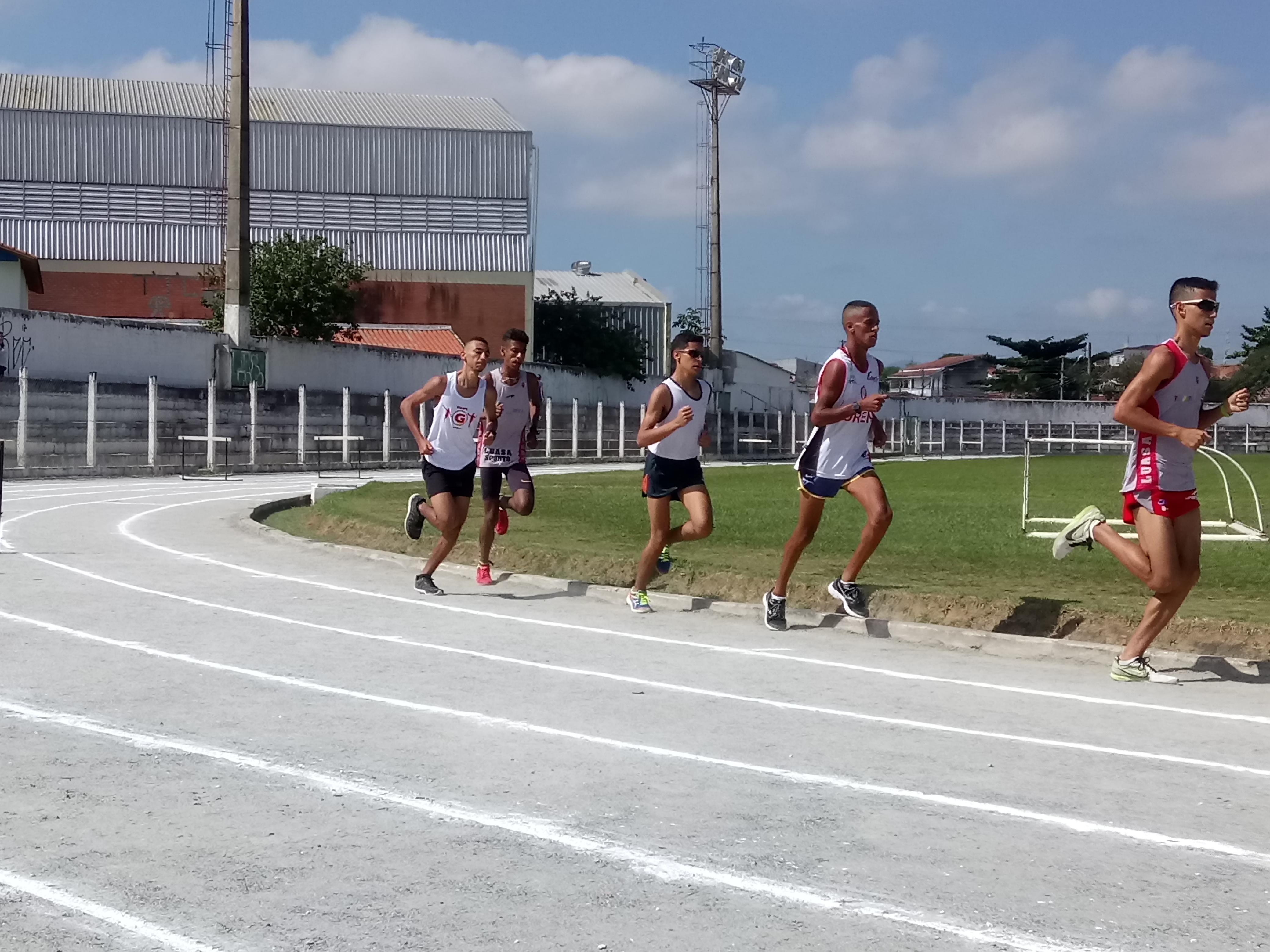 atletismo jogos abertos da  juventude