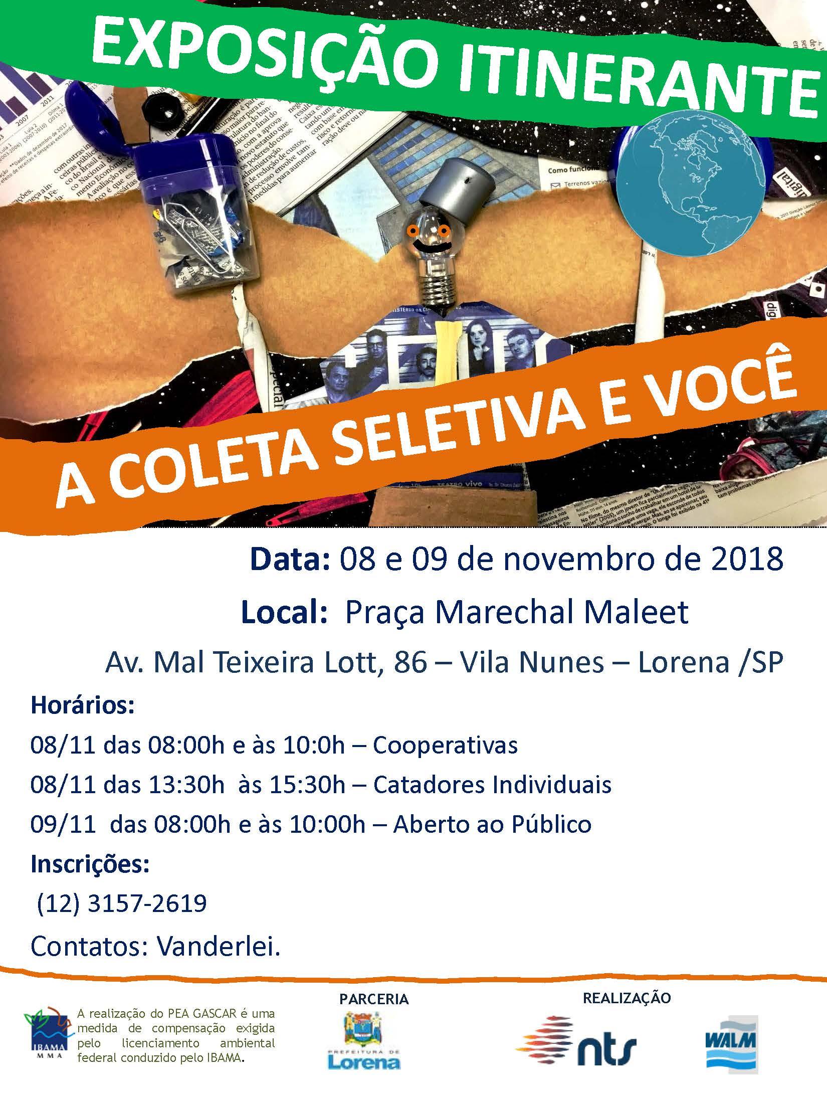 """5a97bf80a2 Praça da Estação recebe exposição itinerante """"A coleta seletiva e ..."""