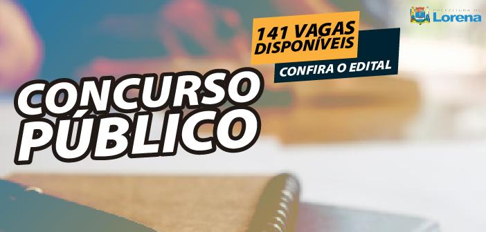 Prefeitura de Lorena publica edital de abertura de concurso público para 141 vagas de emprego