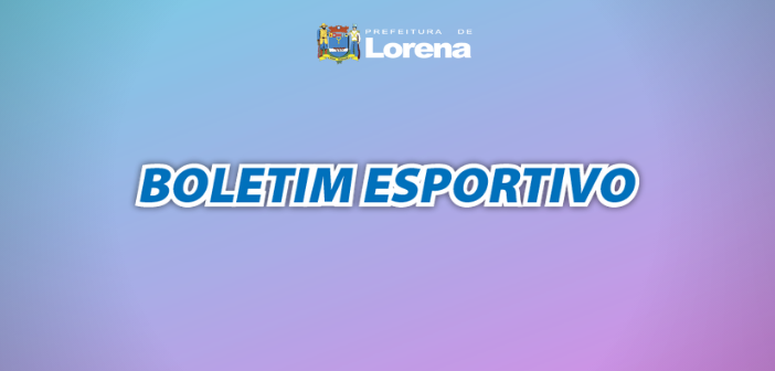 BOLETIM ESPORTIVO 11-09-2019