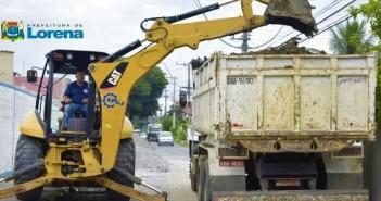 Prefeitura de Lorena realiza obra de Drenagem na Av. Thomas Alves Figueiredo