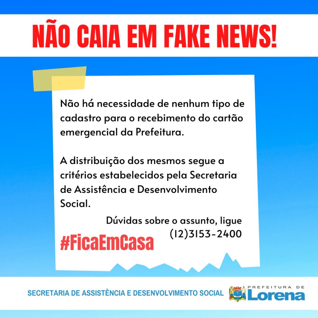 NÃO CAIA EM FAKE NEWS