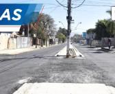 Avenida Dr. Peixoto de Castro começa a receber a primeira fase de pavimentação