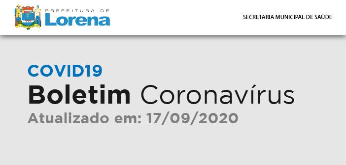 BOLETIM CORONAVÍRUS 17 DE SETEMBRO