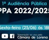 1ª Audiência Pública do PPA 2022 – 2025
