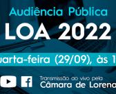 Audiência Pública para apresentação da LOA 2022