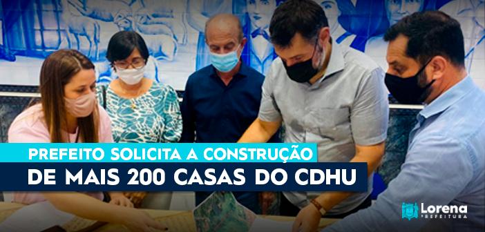 Prefeito de Lorena solicita a construção de mais 200 casas do CDHU ao Estado